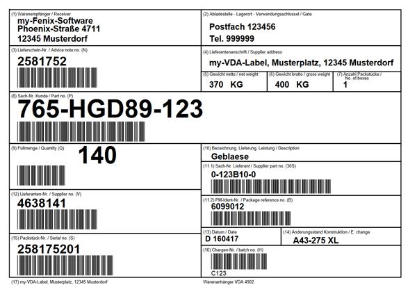 Printing Vda Label 4902 By My Vda Label De
