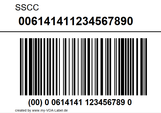 GS1-SSCC/NVE-Label SSCC only